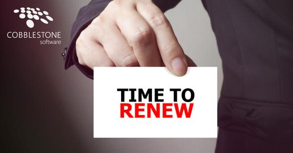 CobbleStone Software streamlines contract renewals.