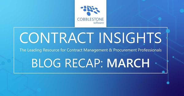 Read CobbleStone Software's March 2020 blog recap.