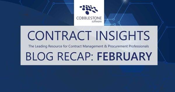CobbleStone Software presents its February 2021 blog recap.