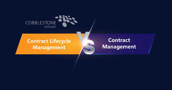 CobbleStone Software explains how contract lifecycle management and contract management differ.
