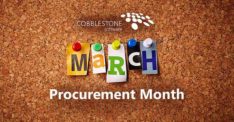 CobbleStone Software helps you march into procurement month with robust procurement software.
