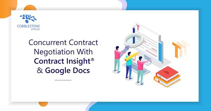 CobbleStone Software integrates with Google Docs for cloud contract negotiations.