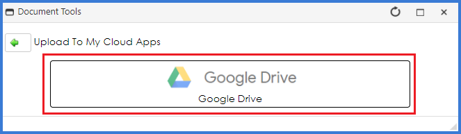 CobbleStone Software offers users the ability to upload their documents to Google Drive.