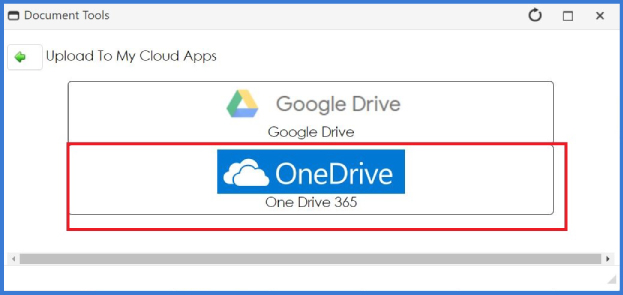 CobbleStone Software allows you to upload to One Drive 365.