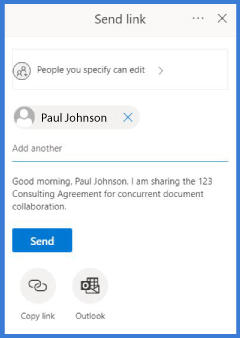 CobbleStone Software allows users to share emailed links for contract stakeholders to collaborate.