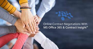 CobbleStone Software integrates with MS Office 365 for streamlined concurrent contract negotiations.