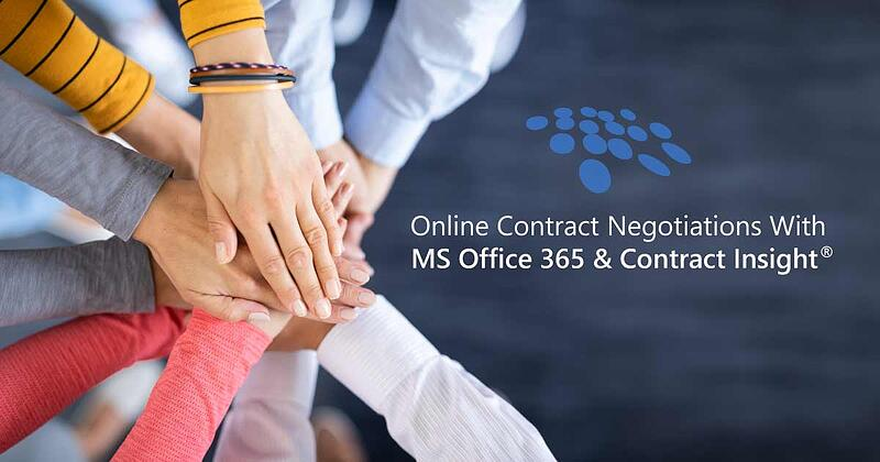 CobbleStone Software offers online contract negotiations with integrated MS Office 365.