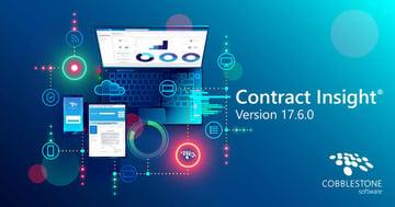 CobbleStone Software presents Contract Insight® 17.6.0.