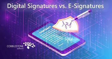 CobbleStone Software offers digital signatures.