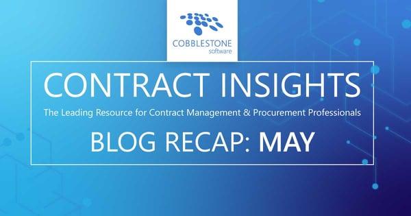 Read CobbleStone's May 2020 blog recap.
