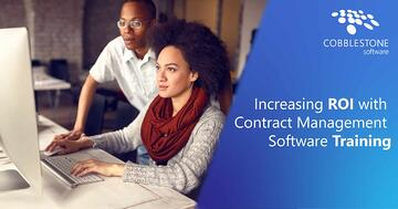 Get the most ROI out of contract management software with training from your trusted provider.