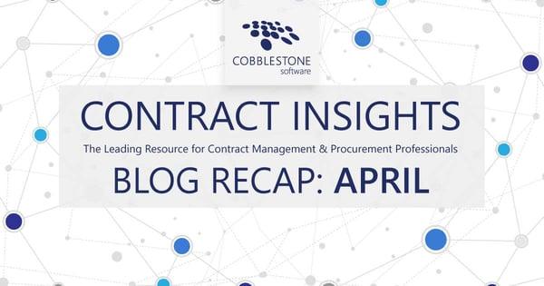 CobbleStone Software offers its April 2021 blog recap.