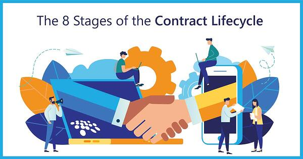 CobbleStone Software presents the 8 stages of the contract lifecycle.