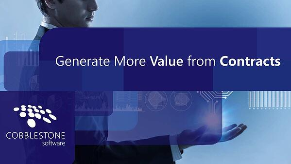 Generate more value from contracts with CobbleStone Software.