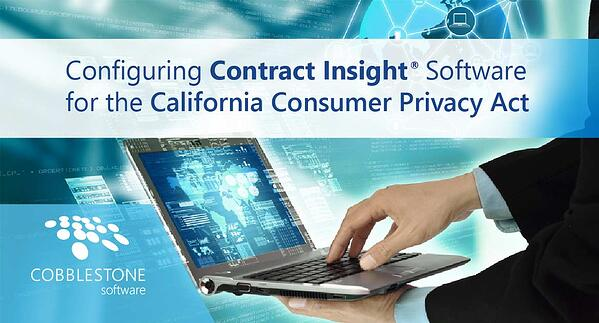 Configure Contract Insight for the California Consumer Privacy Act
