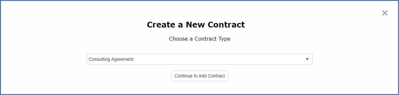Create a new contract in CobbleStone Software.