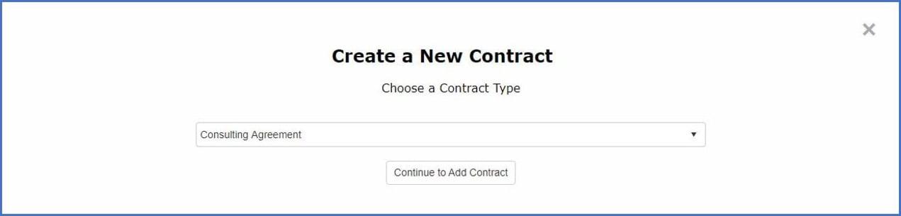 Create a new contract in CobbleStone Software.