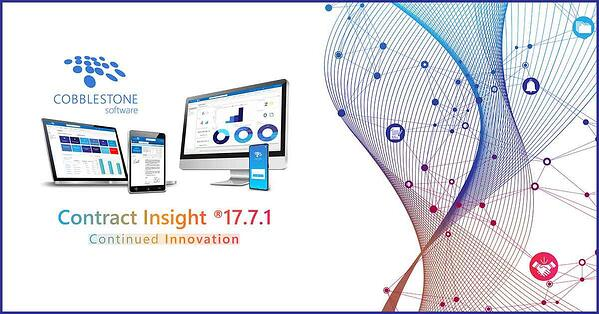 CobbleStone Software's Contract Insight 17.7.1 brings continued innovation.