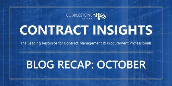 Read CobbleStone Software's October 2019 blog recap.