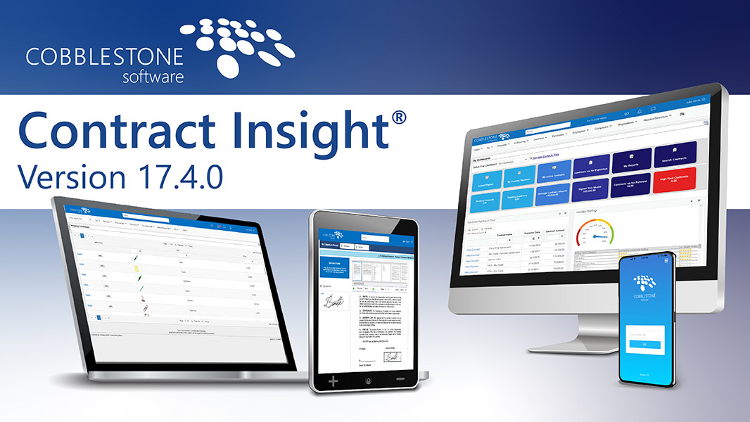 New release alert for CobbleStone's Contract Insight 17.4.0