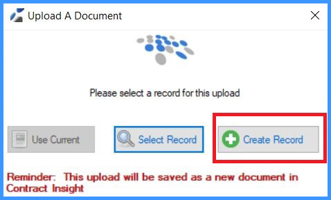 CobbleStone Software allows users to easily create records and upload documents