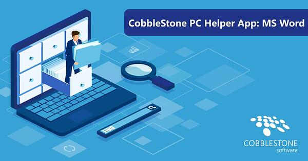 CobbleStone Software offers a PC Helper App for MS Word integration.