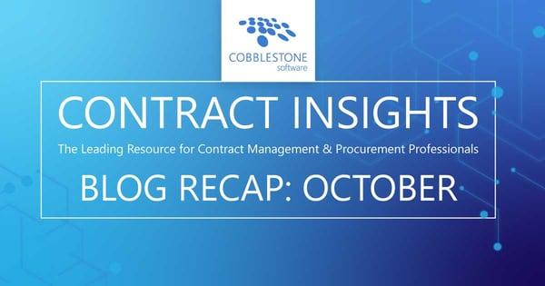 CobbleStone Software presents its October 2020 blog recap.