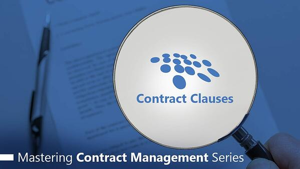 CobbleStone Software explores contract clauses in their mastering contract management series.