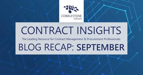 CobbleStone Software presents its September 2021 blog recap.