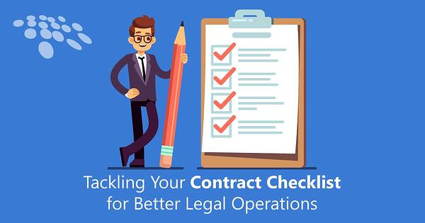CobbleStone Software helps you tackle your contract checklist for better legal operations.