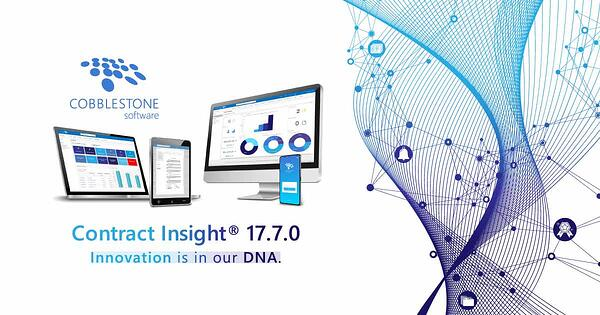CobbleStone Software continues to innovate with Contract Insight 17.7.0.