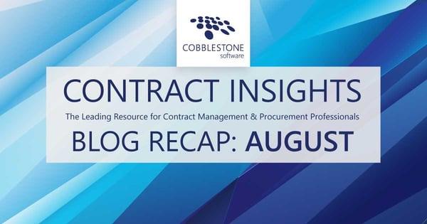 CobbleStone Software presents its blog recap for August 2021.