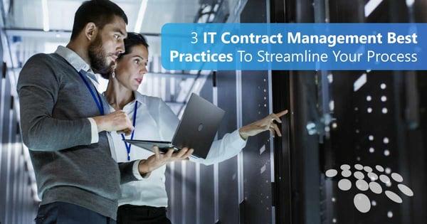 CobbleStone Software provides 3 IT contract management best practices.
