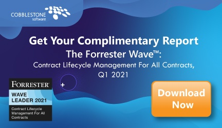 CobbleStone Software offers a complimentary download of Forrester's 2021 CLM software report.